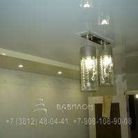 Монтаж двухуровневых натяжных потолков в Омске