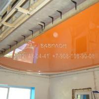 Установка трехуровнего потолка