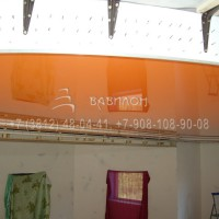 Трехуровневый натяжной потолок в Омске