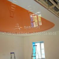 Монтаж трехуровнего натяжного потолка