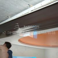 Монтаж трехуровнего потолка