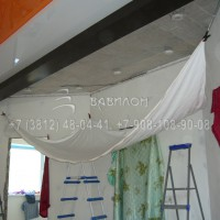 Установка трехуровнего потолка Омск
