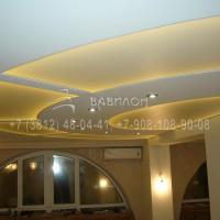 Установка светопрозрачного потолка